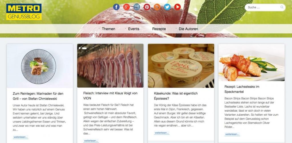 best practice corporate blogs METRO Genuss Blog