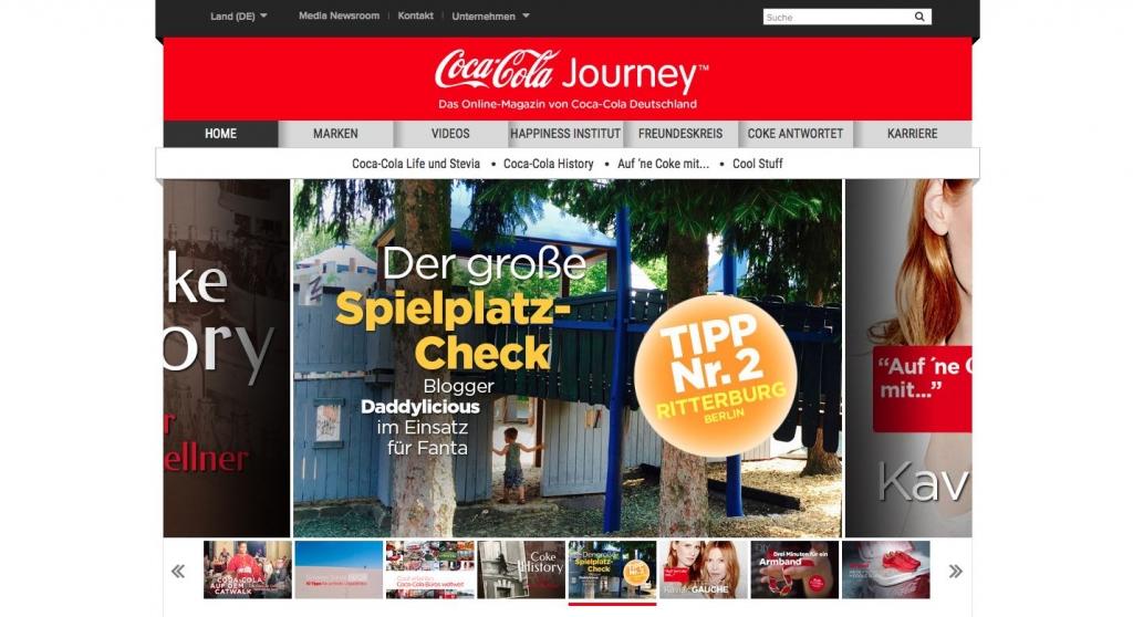 best practice corporate blog journey online magazin coca-cola
