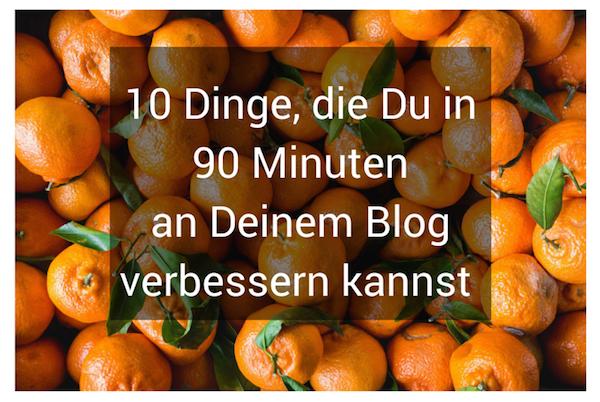 blog verbessern 10 Ideen